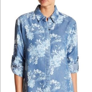 Kut from the Kloth Floral Chambray Shirt